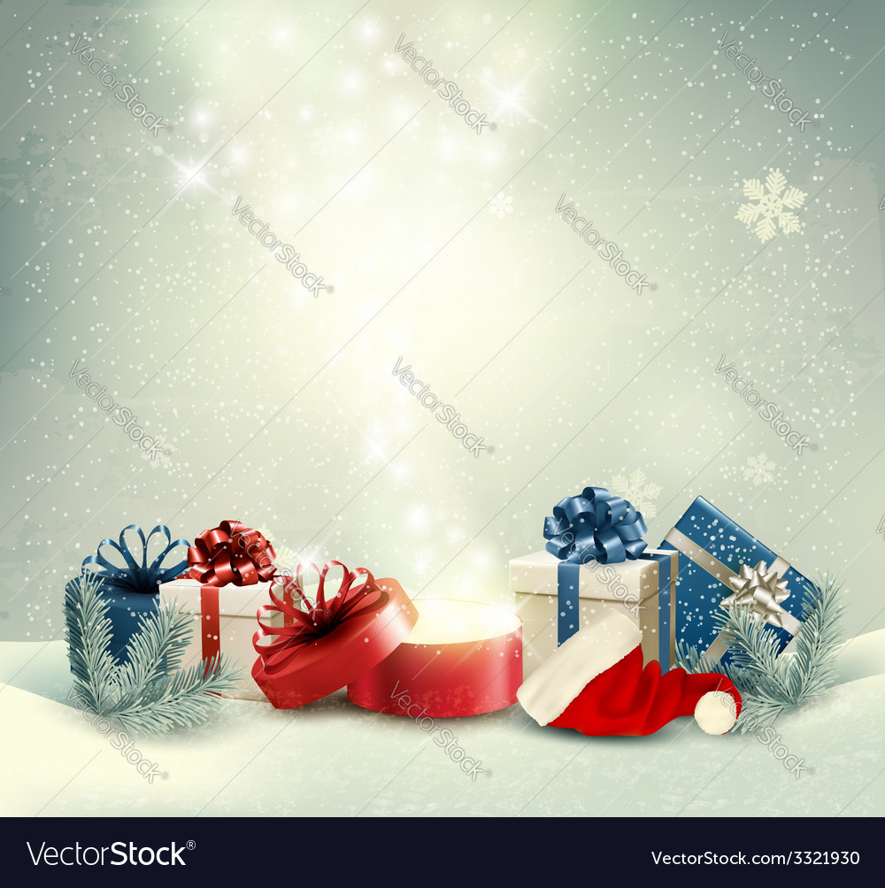 Christmas holiday background with presents and vector   Price: 3 Credit (USD $3)