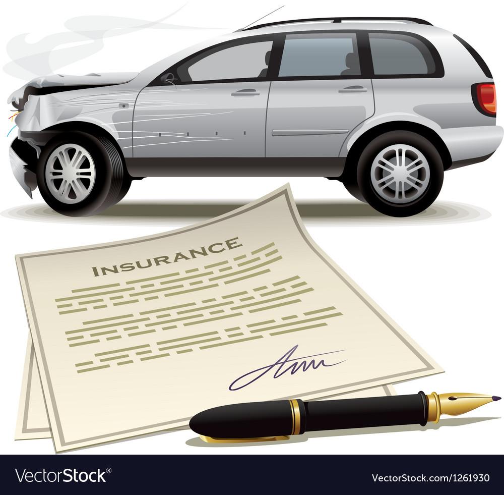 Crash car insurance vector | Price: 3 Credit (USD $3)