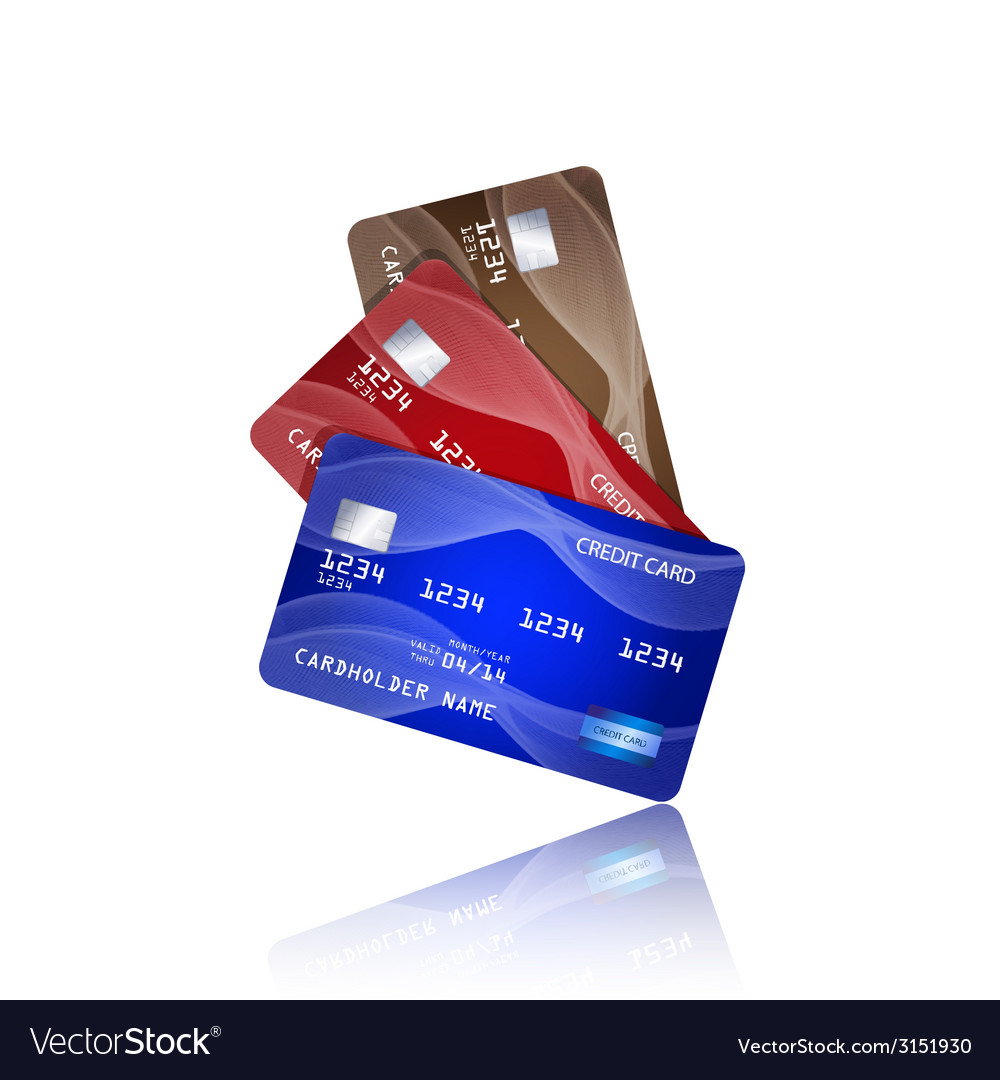Credit cards isolated on white background vector | Price: 1 Credit (USD $1)