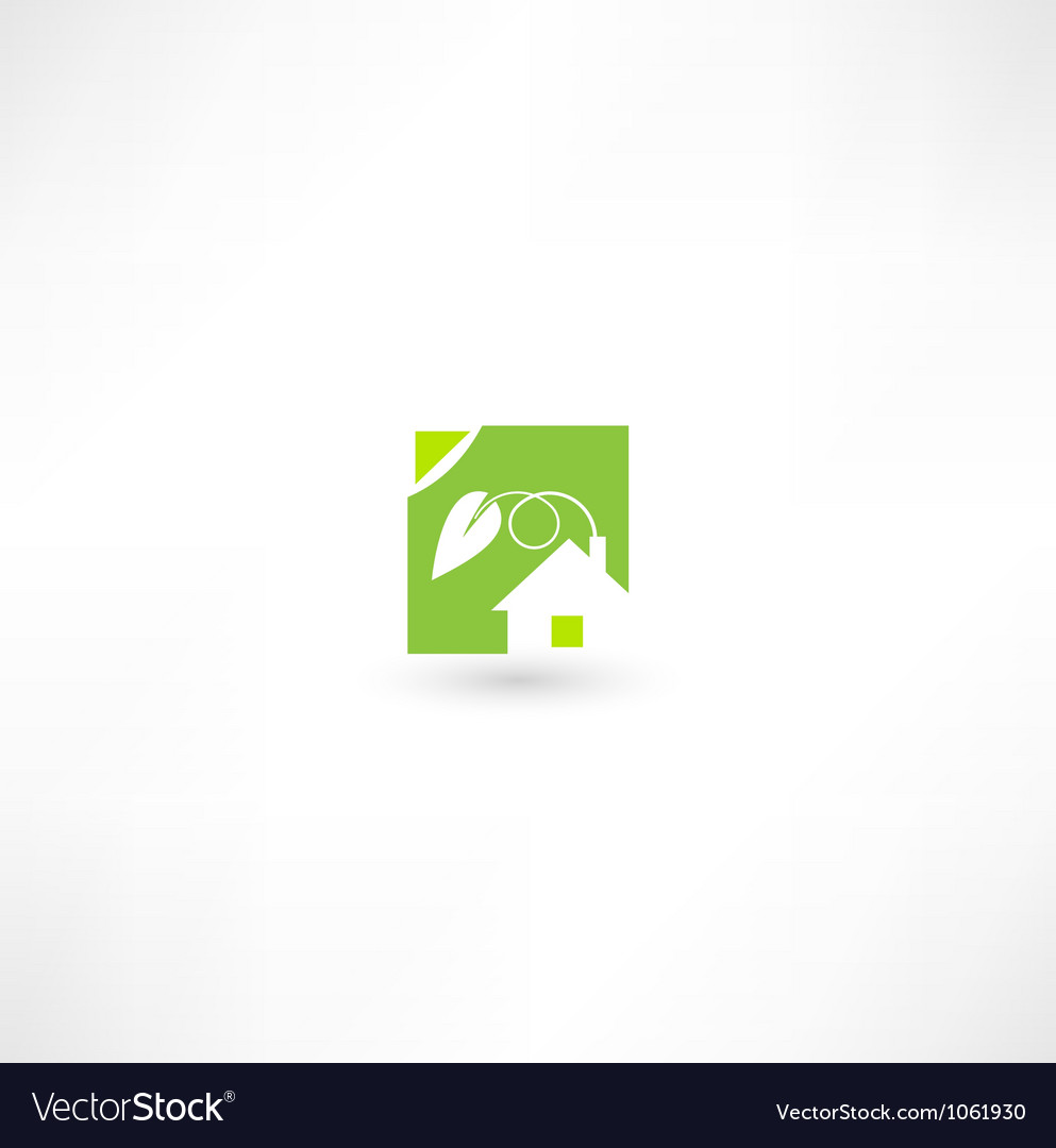 Eco home icon vector | Price: 1 Credit (USD $1)