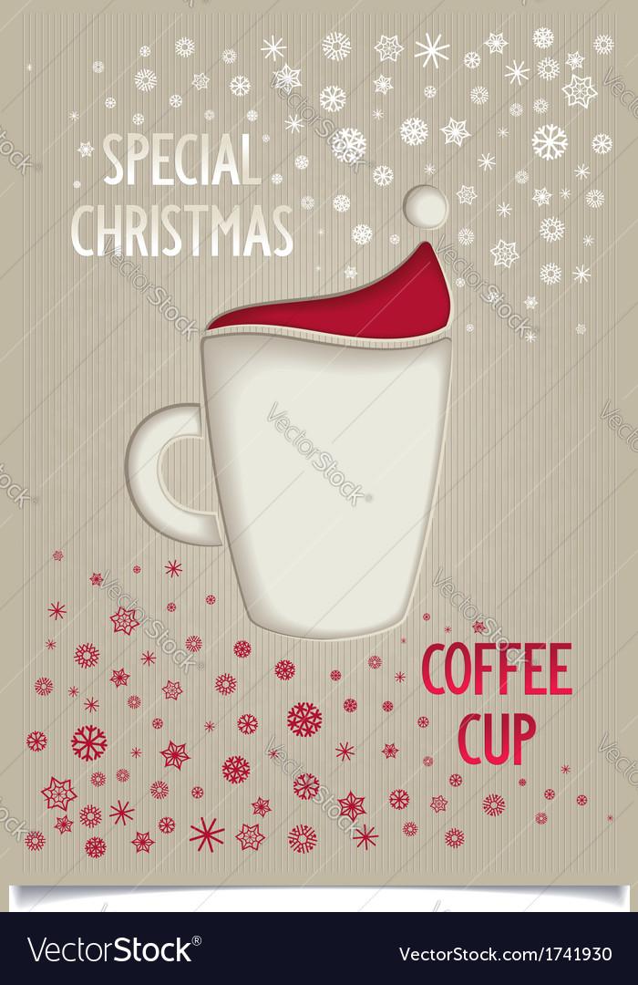 Fun vintage christmas coffee cup vector | Price: 1 Credit (USD $1)