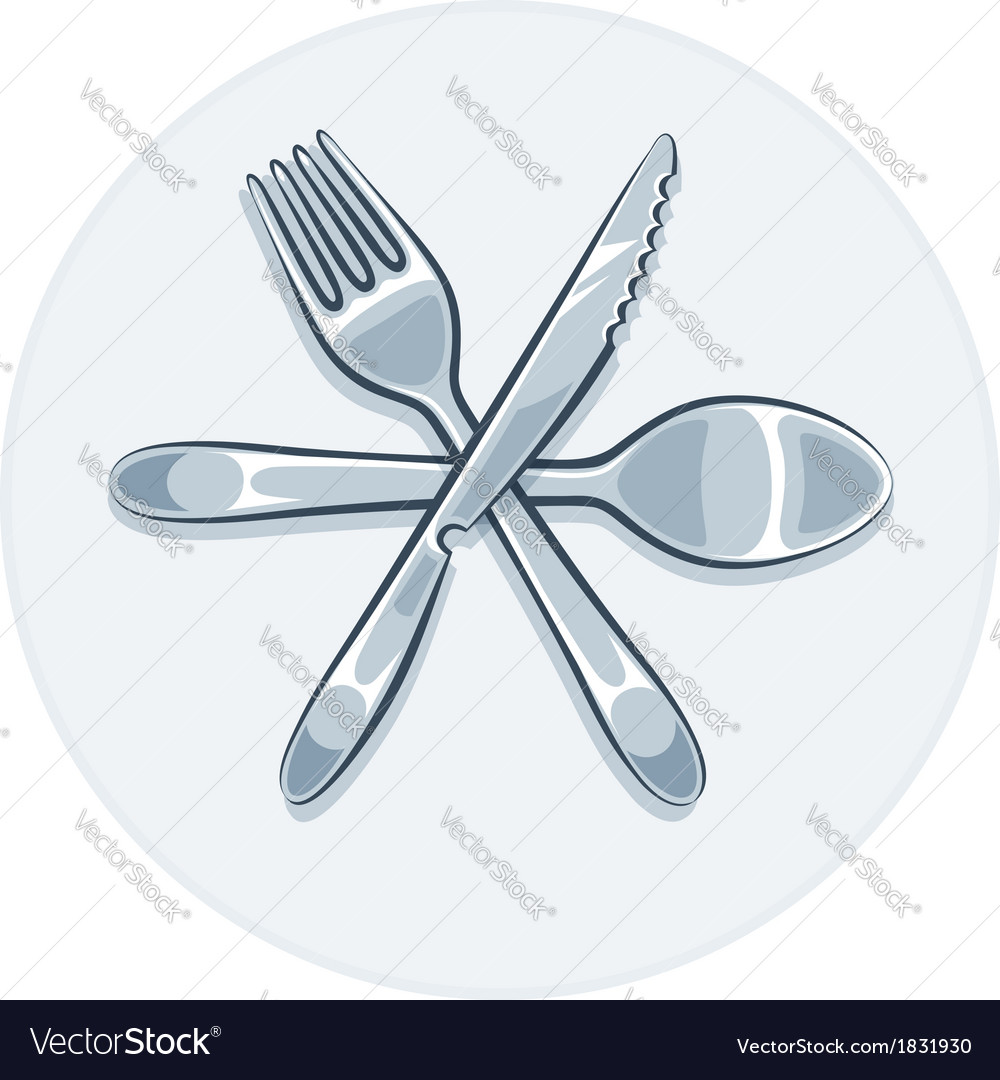 Kitchen utensils fork knife vector | Price: 1 Credit (USD $1)