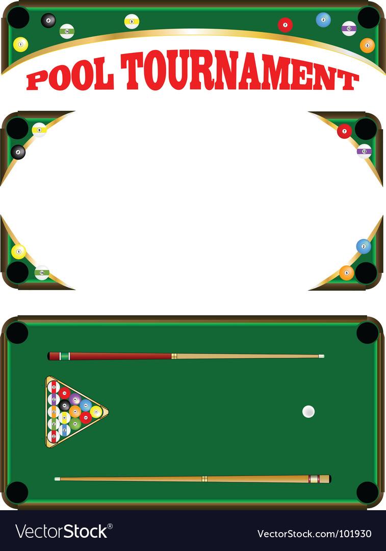 Pool tournament vector | Price: 1 Credit (USD $1)