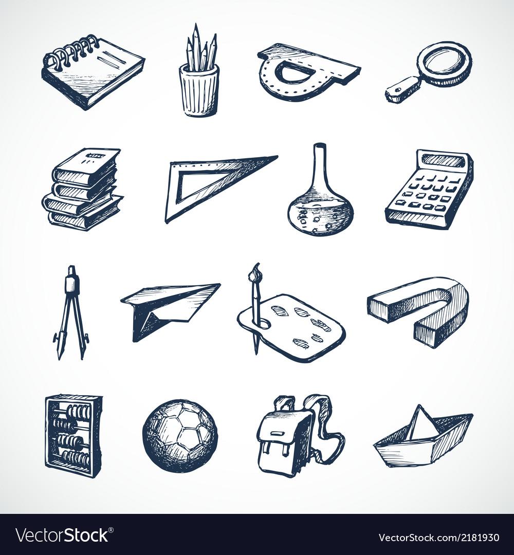 School sketch icons vector   Price: 1 Credit (USD $1)