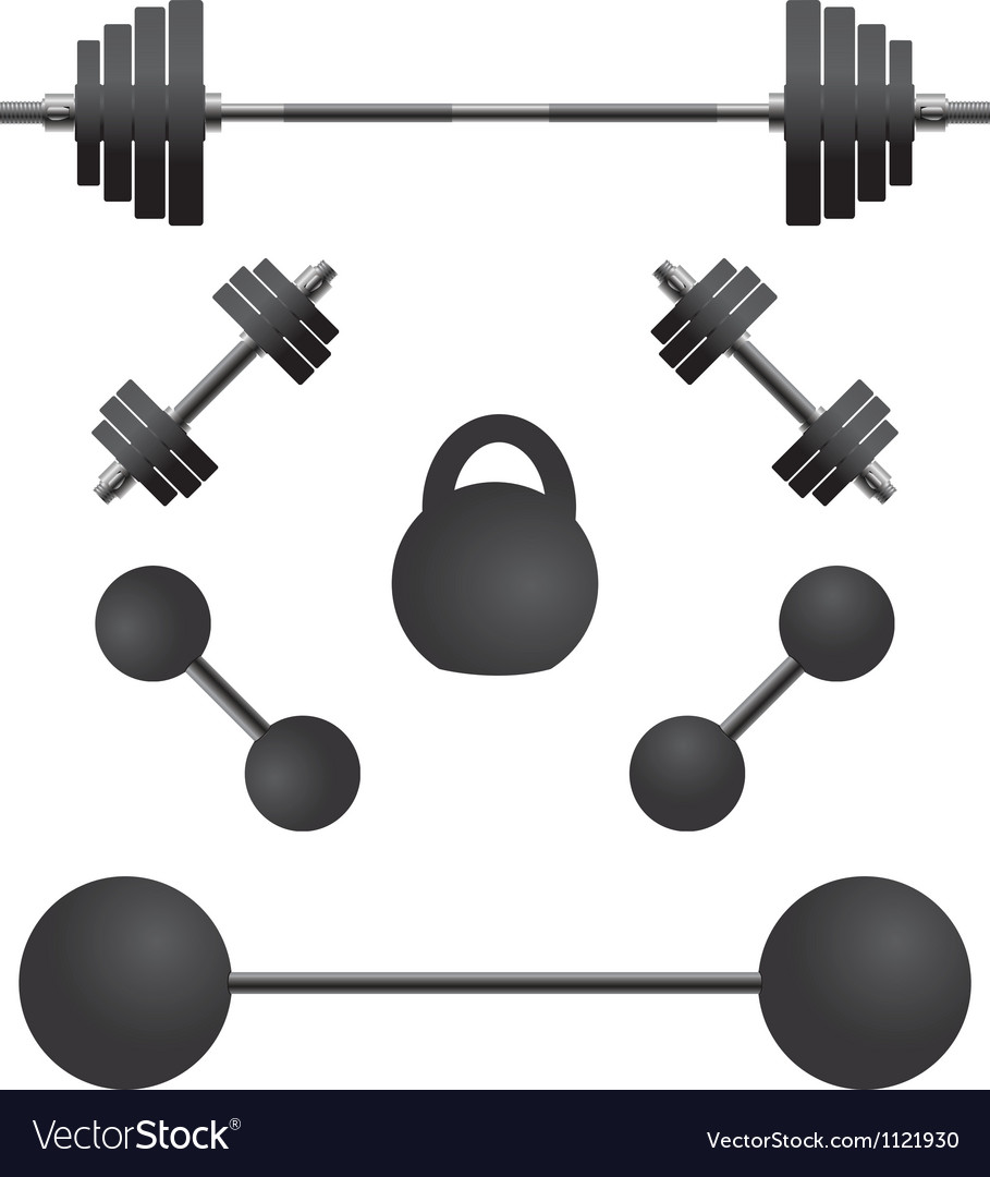 Set of weights third variant vector | Price: 1 Credit (USD $1)