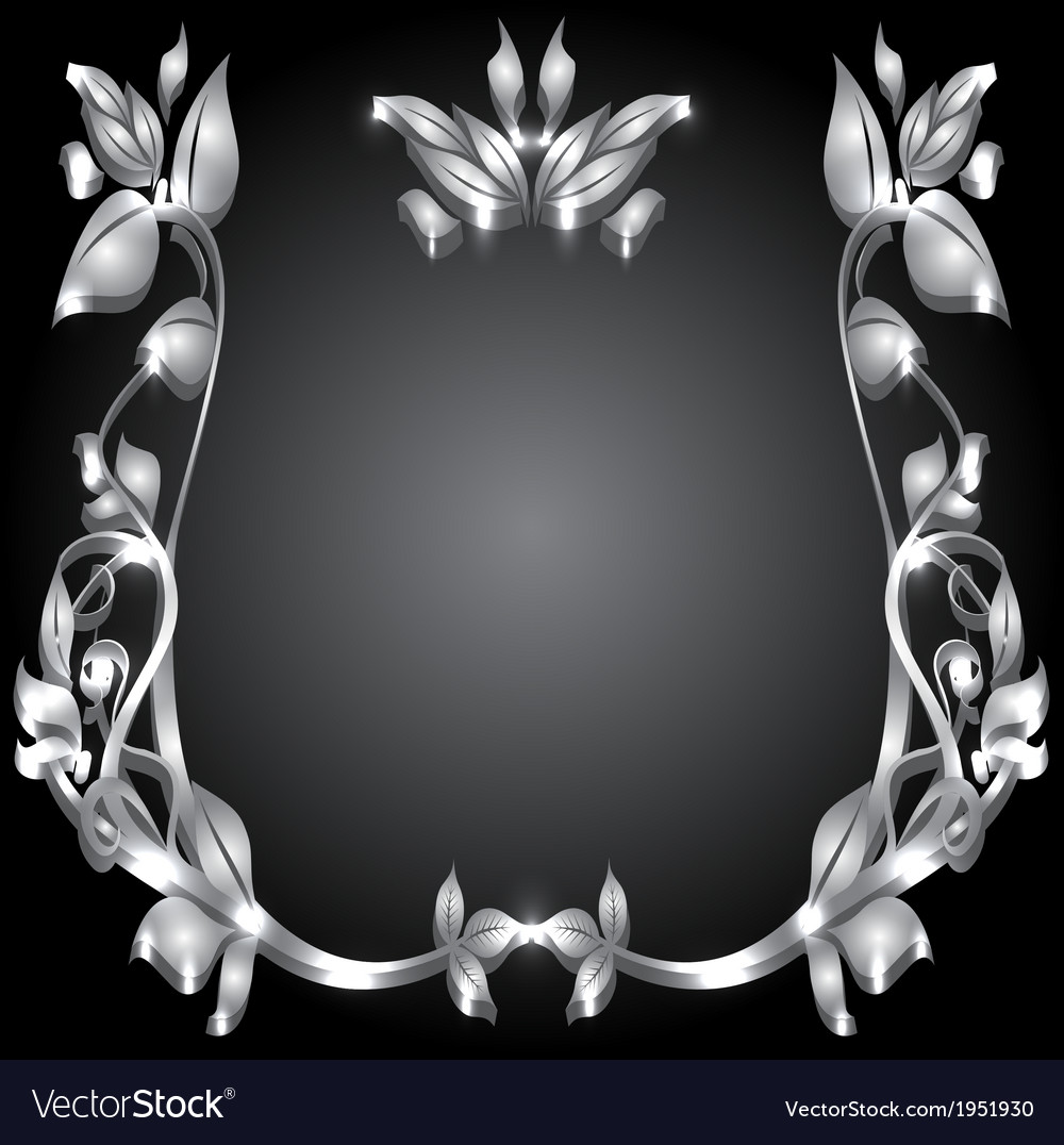 Silver monogram vector | Price: 1 Credit (USD $1)