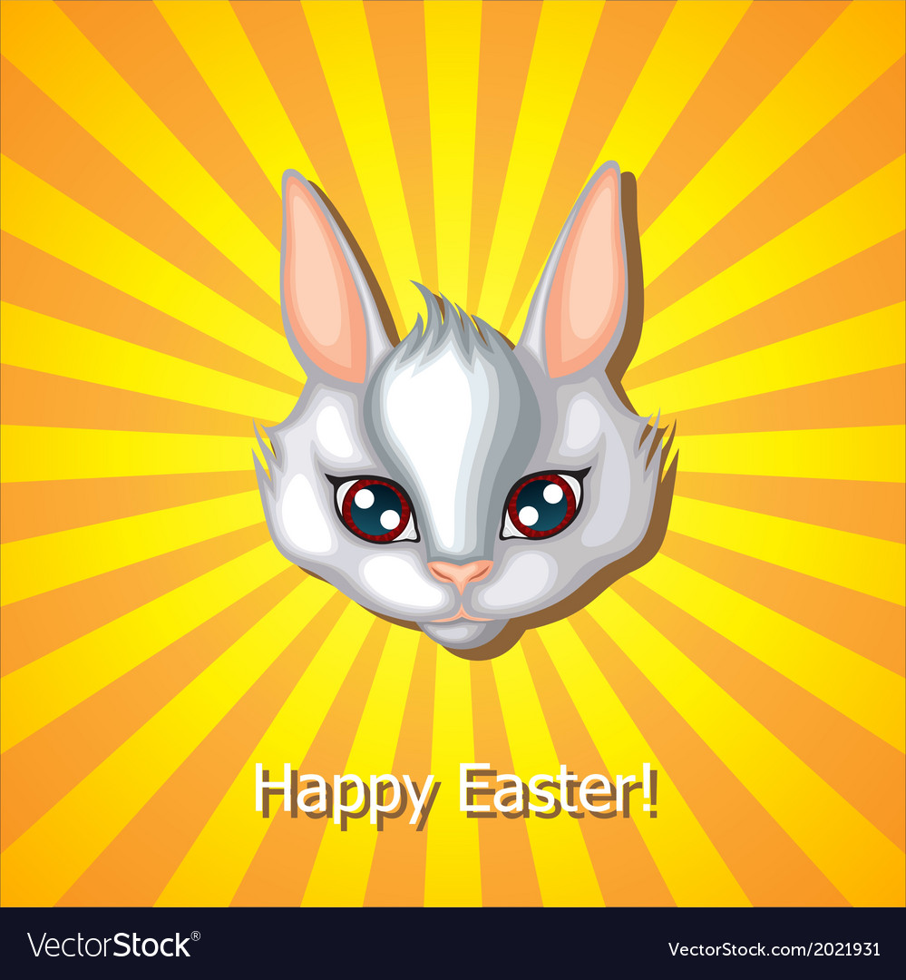 Bunny head white vector | Price: 1 Credit (USD $1)