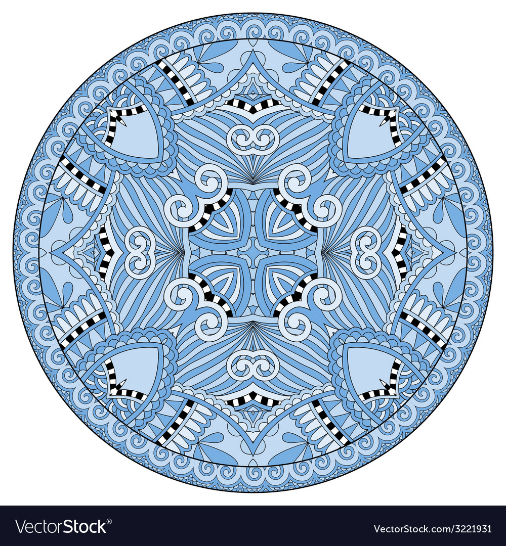 Decorative blue colour design of circle dish vector | Price: 1 Credit (USD $1)