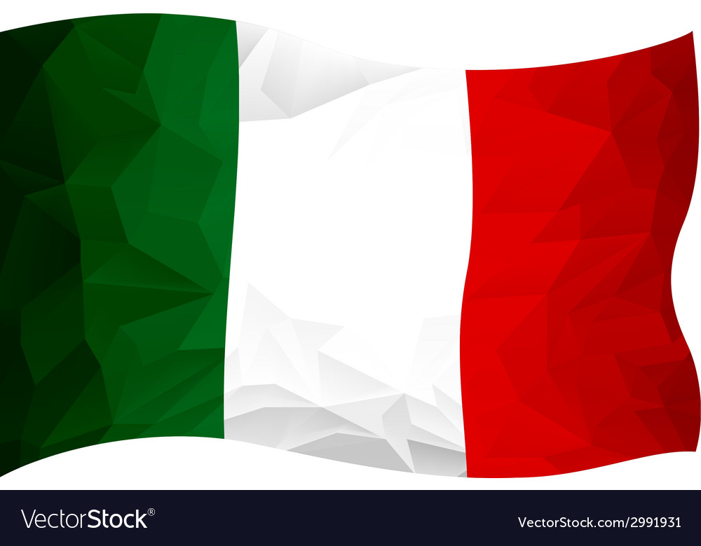 Flag italy vector | Price: 1 Credit (USD $1)