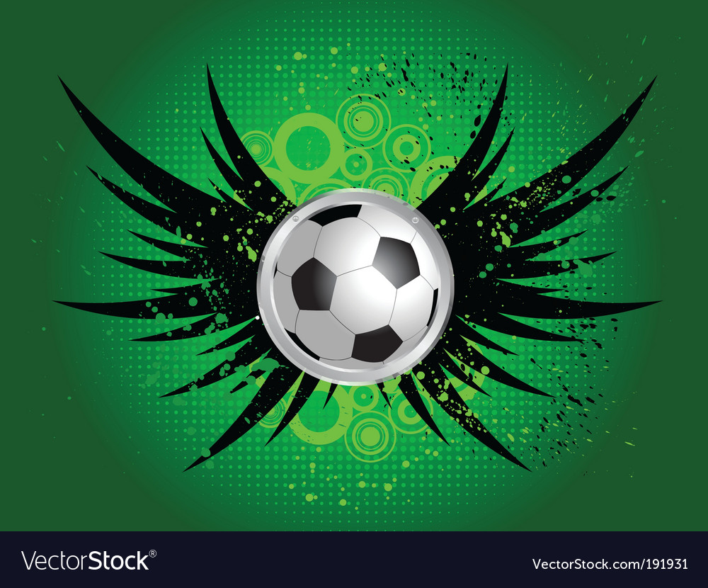 Football grunge wings vector | Price: 1 Credit (USD $1)