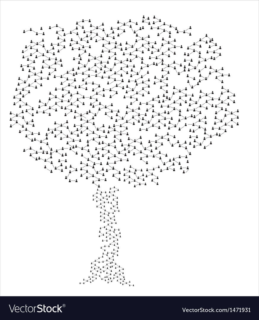 Human connection tree vector | Price: 1 Credit (USD $1)