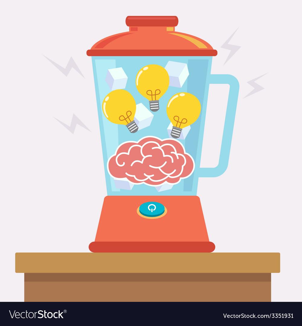 Idea brain mix vector   Price: 1 Credit (USD $1)