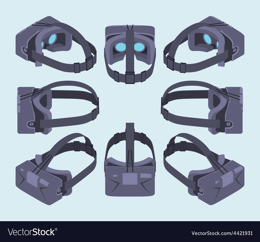 Isometric virtual reality headset vector | Price: 1 Credit (USD $1)