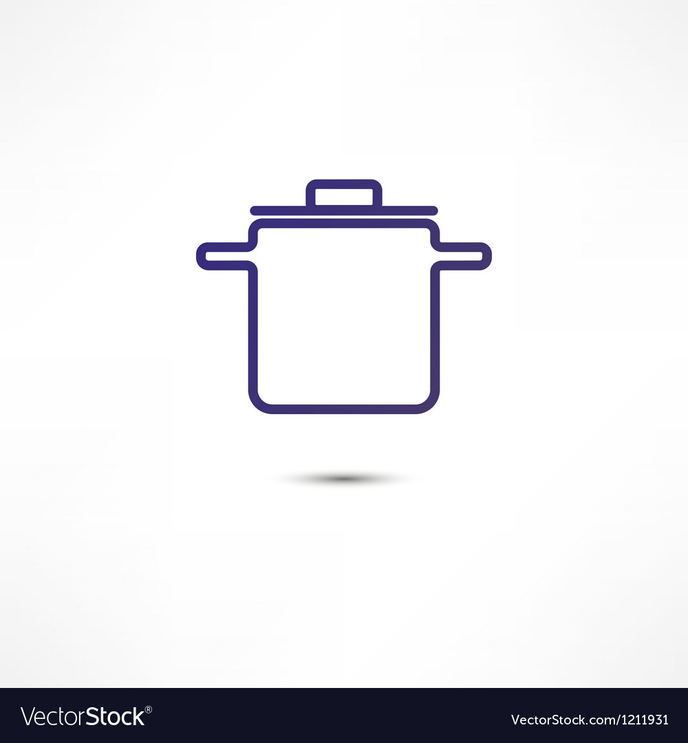 Pan of food icon vector | Price: 1 Credit (USD $1)