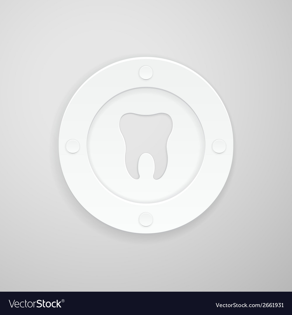 Plate with a dent in the shape of a tooth vector | Price: 1 Credit (USD $1)