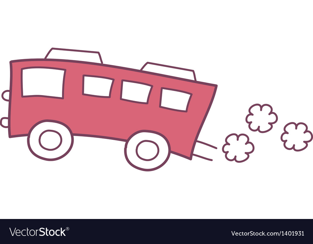 The red bus vector | Price: 1 Credit (USD $1)