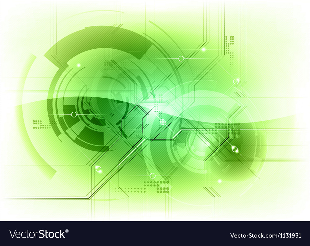 Tech background green gloss vector | Price: 1 Credit (USD $1)