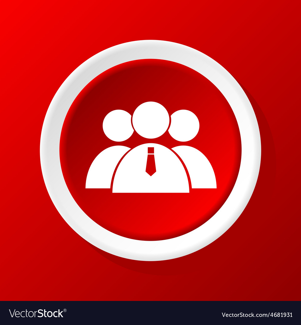 User group icon on red vector | Price: 1 Credit (USD $1)