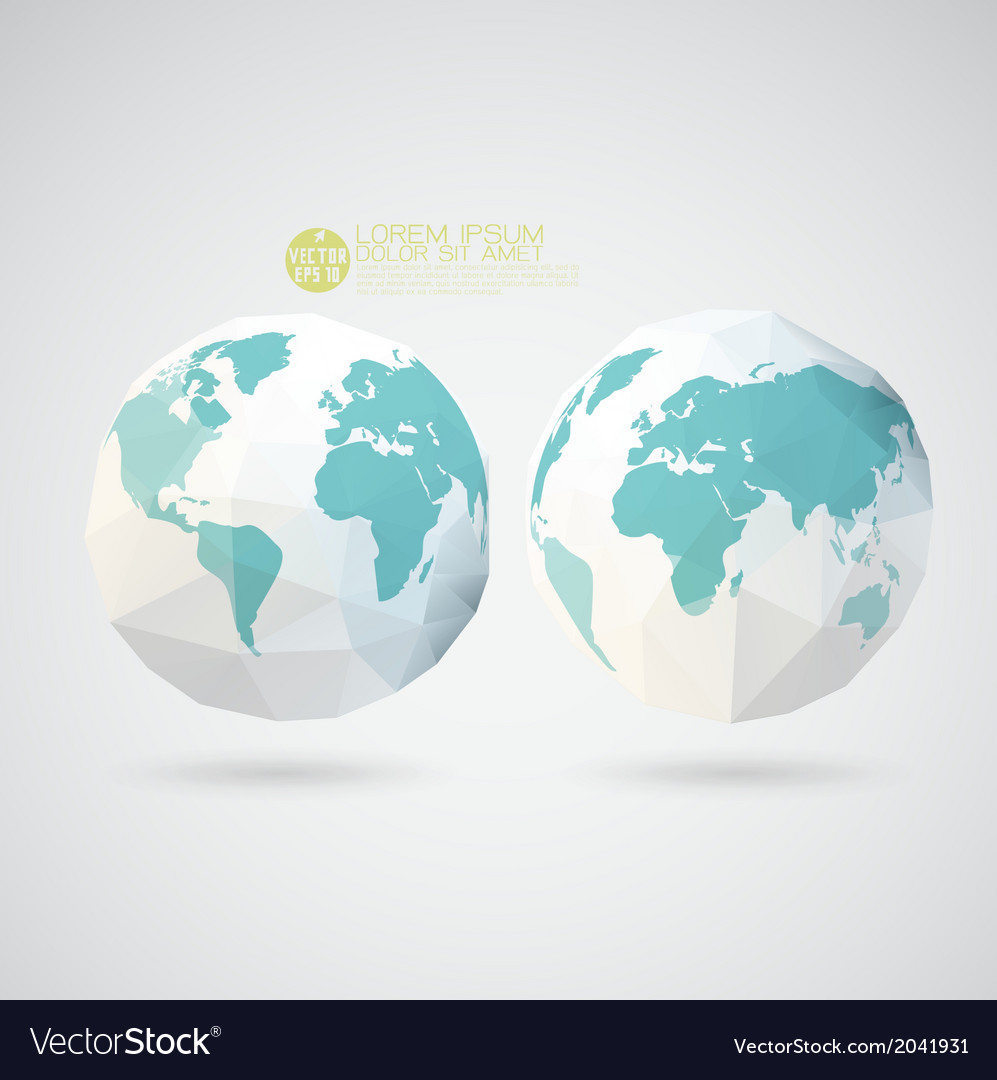 World map with polygon texture isolated background vector | Price: 1 Credit (USD $1)
