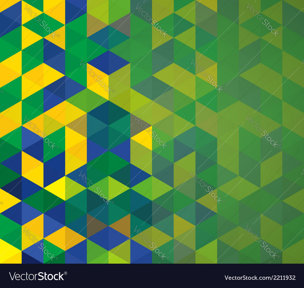 Abstract geometric brazil flag vector | Price: 1 Credit (USD $1)