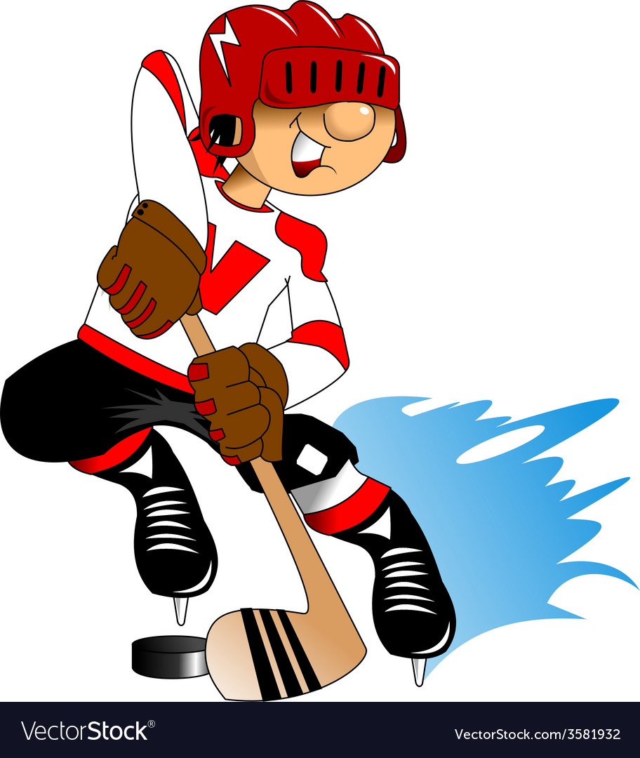 Cartoon sports player vector | Price: 1 Credit (USD $1)