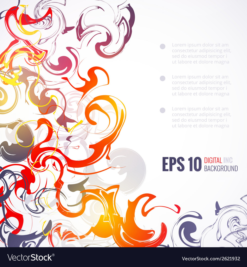 Eps 10 ink abstract background vector | Price: 1 Credit (USD $1)