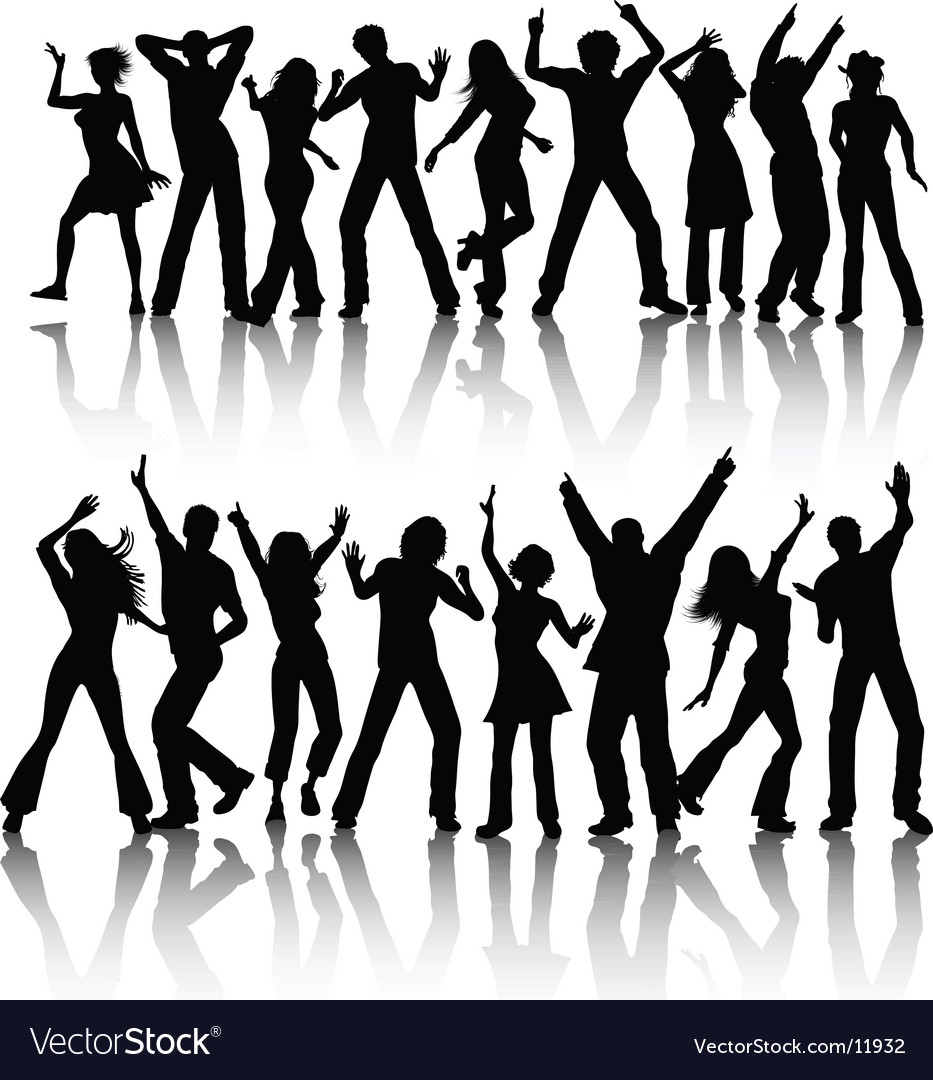 People dancing vector | Price: 3 Credit (USD $3)