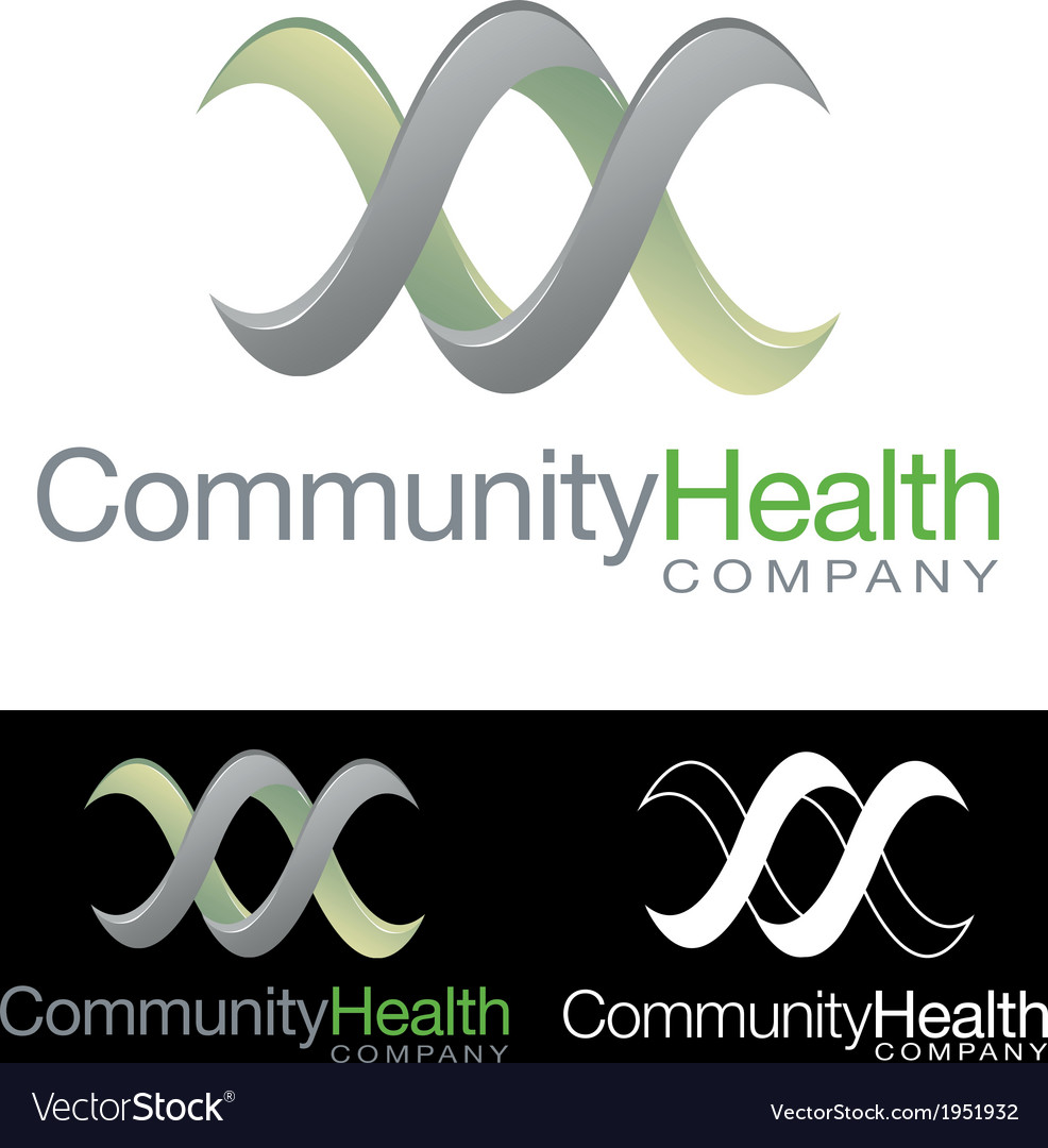 Social community health company icon logo vector | Price: 1 Credit (USD $1)