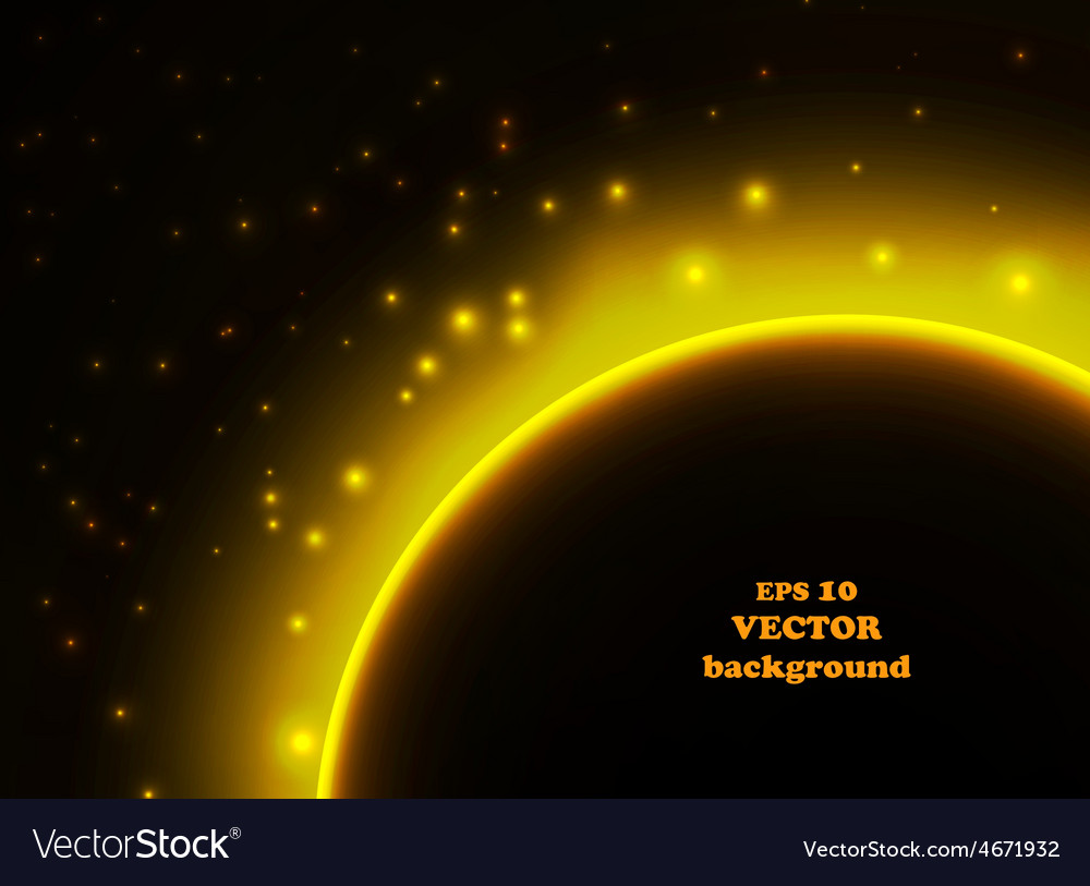 Space planet in the rays of light vector | Price: 1 Credit (USD $1)