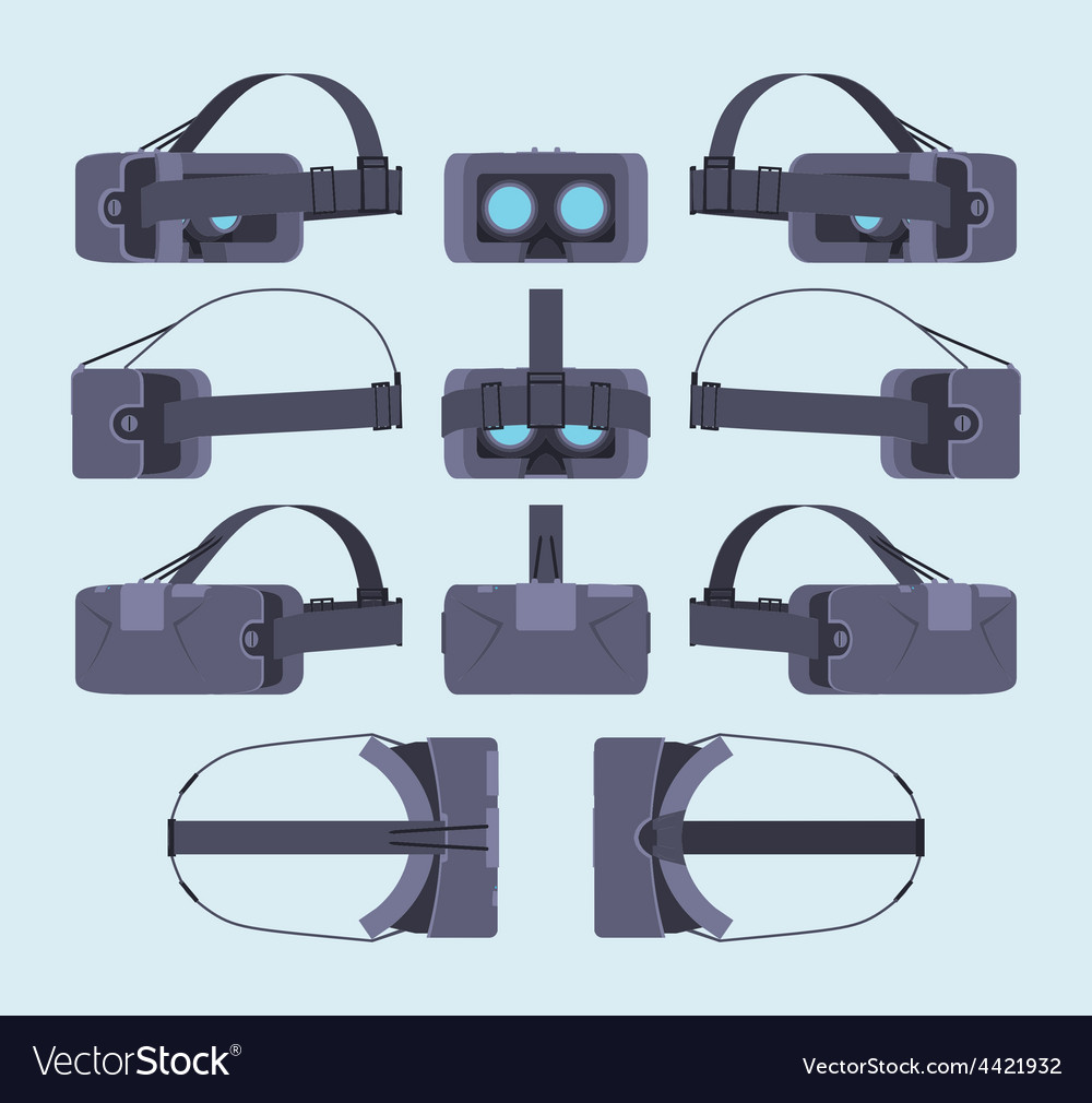 Virtual reality headset vector   Price: 1 Credit (USD $1)