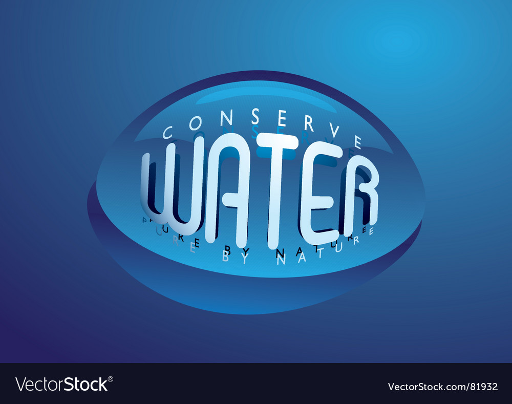 Water droplet nature vector | Price: 1 Credit (USD $1)