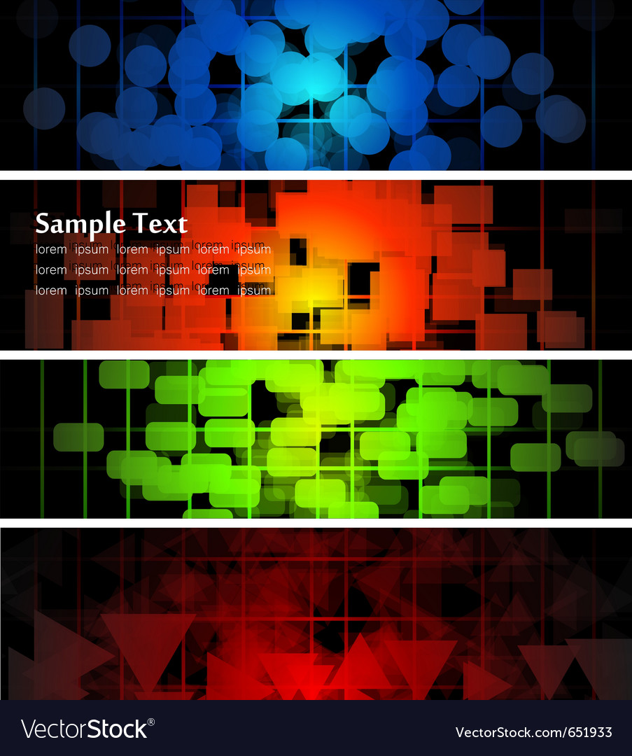 Abstract glowing banners vector | Price: 1 Credit (USD $1)