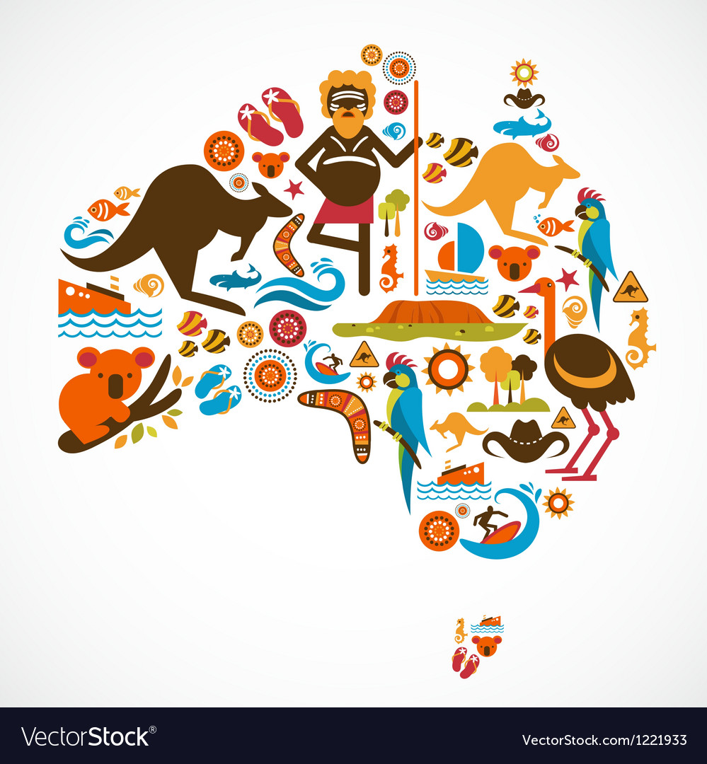 Australia map vector | Price: 3 Credit (USD $3)