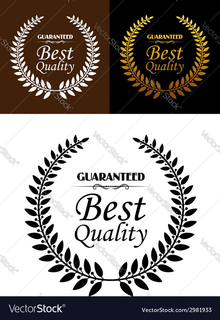 Best quality guaranteed label or emblem vector | Price: 1 Credit (USD $1)