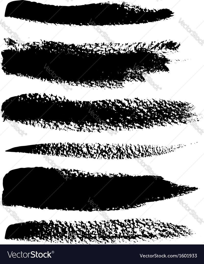 Black brush strokes set vector | Price: 1 Credit (USD $1)