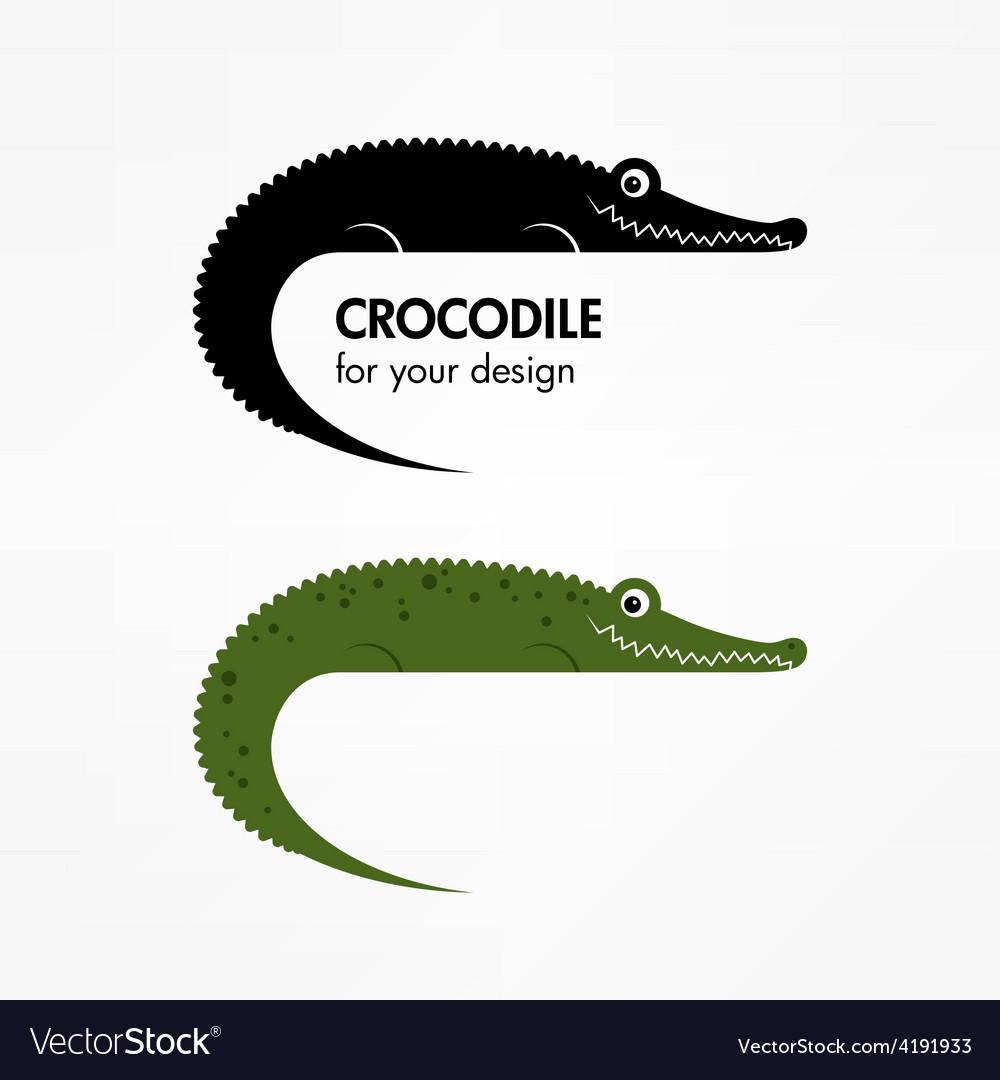 Crocodile icon vector | Price: 1 Credit (USD $1)