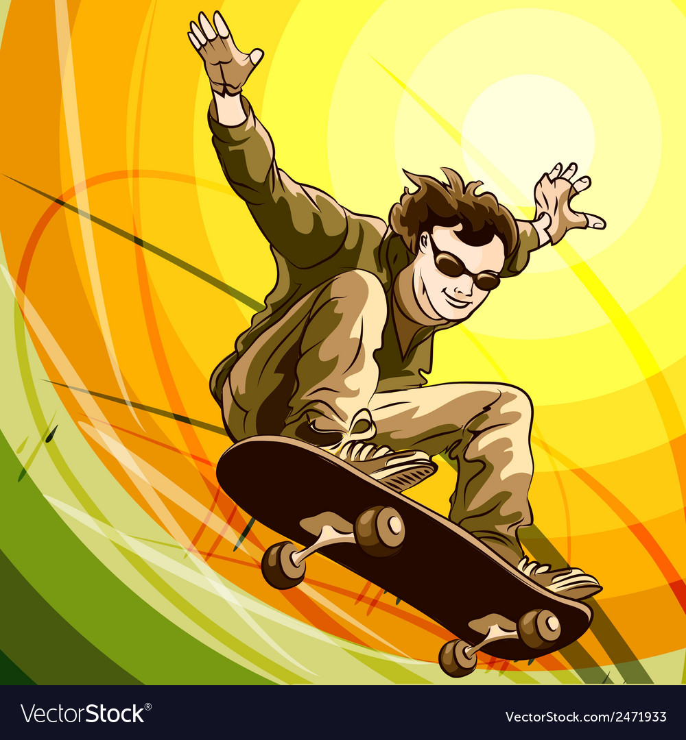 Easy skater vector | Price: 1 Credit (USD $1)