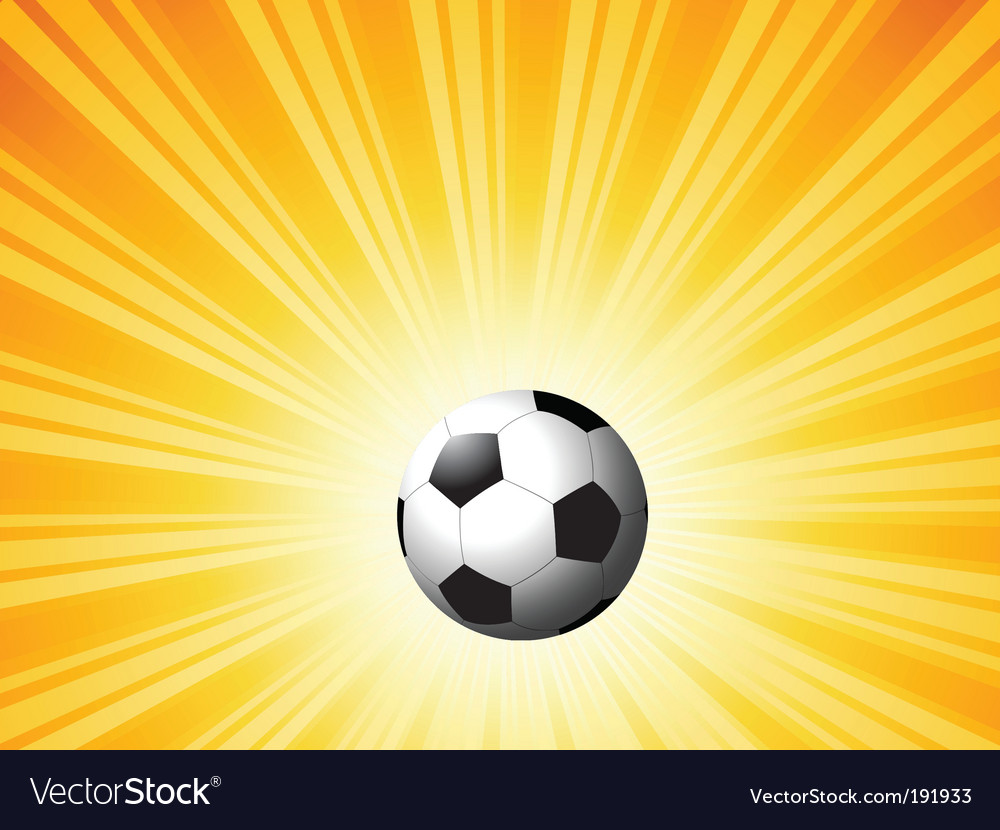 Football on star burst vector | Price: 1 Credit (USD $1)