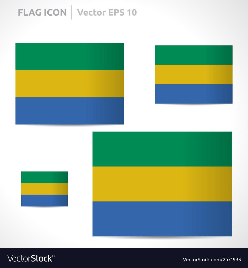 Gabon flag template vector | Price: 1 Credit (USD $1)