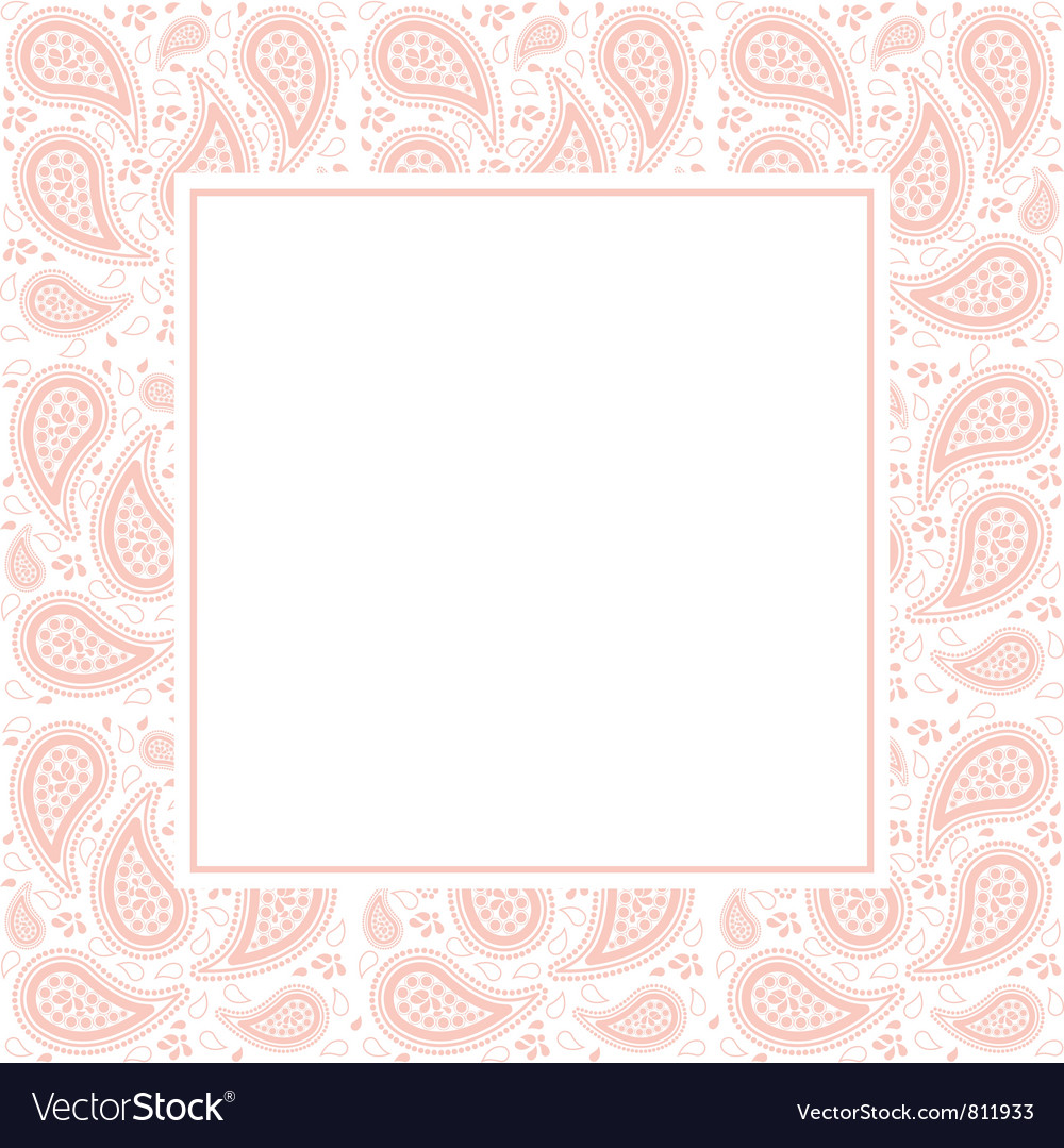 Paisley border vector | Price: 1 Credit (USD $1)