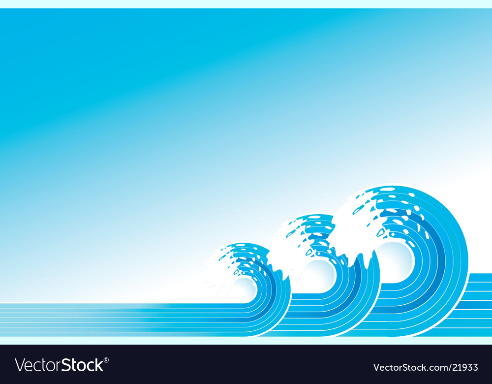 Retro lined art waves vector | Price: 1 Credit (USD $1)