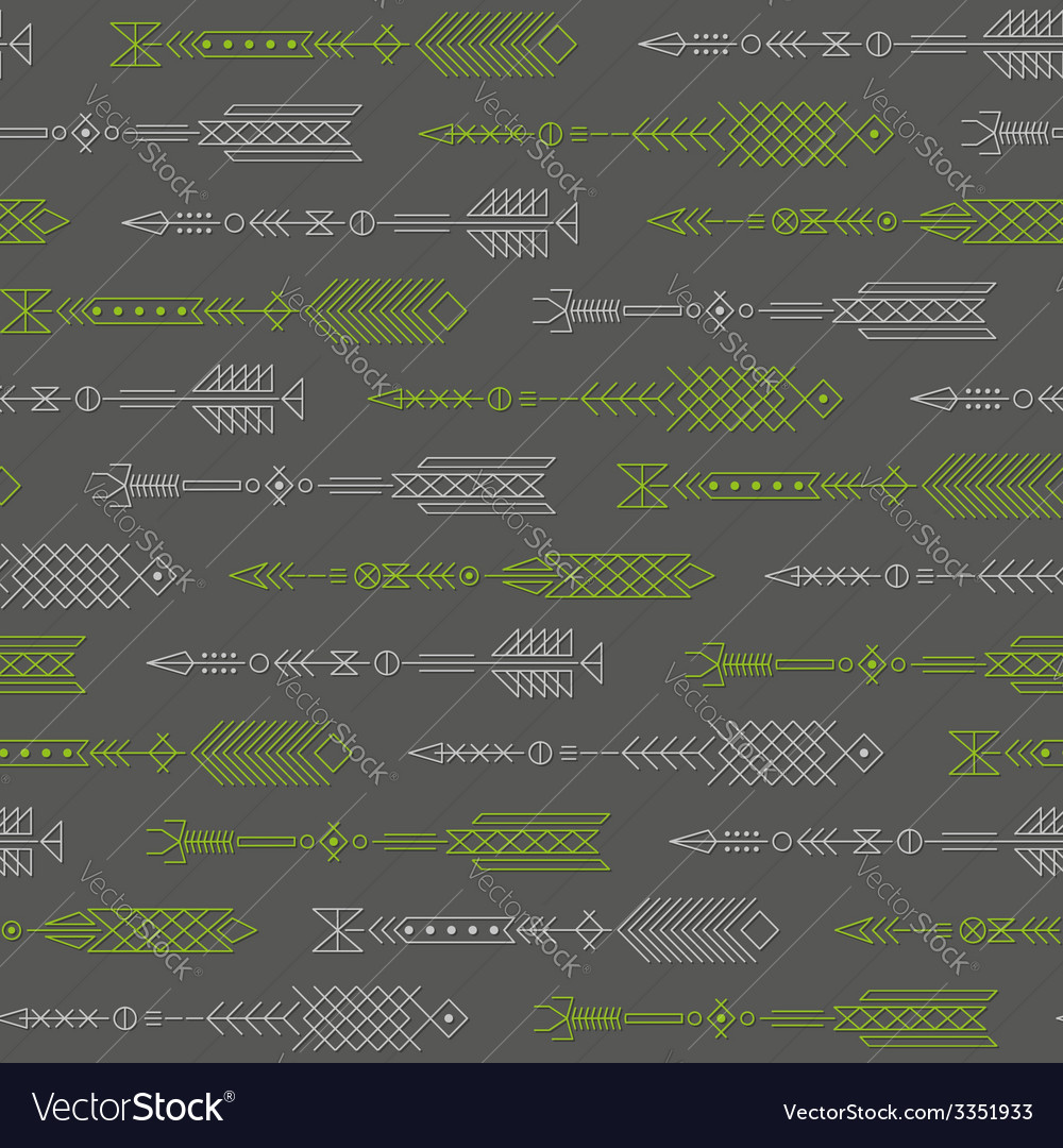 Seamless abstract pattern with stylized arrows vector | Price: 1 Credit (USD $1)