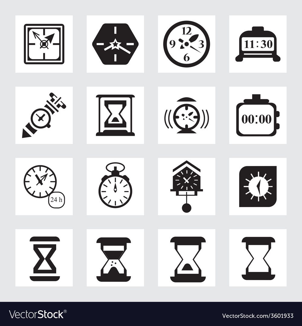 Time icon vector | Price: 1 Credit (USD $1)