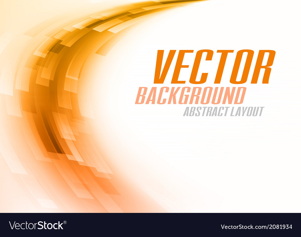 Background curve stripes orange white vector | Price: 1 Credit (USD $1)