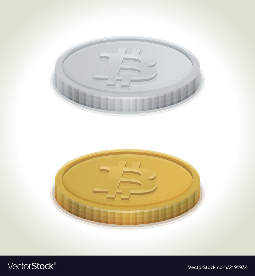 Bitcoin coins vector | Price: 1 Credit (USD $1)