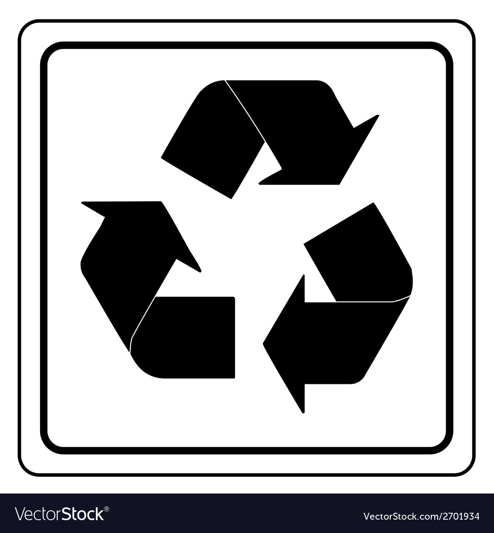 Black recycle sign vector | Price: 1 Credit (USD $1)