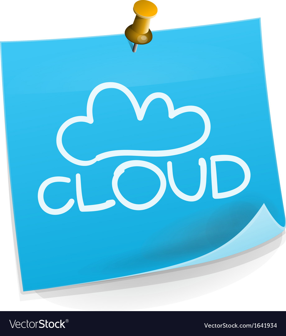 Cloud technology sticky note vector | Price: 1 Credit (USD $1)