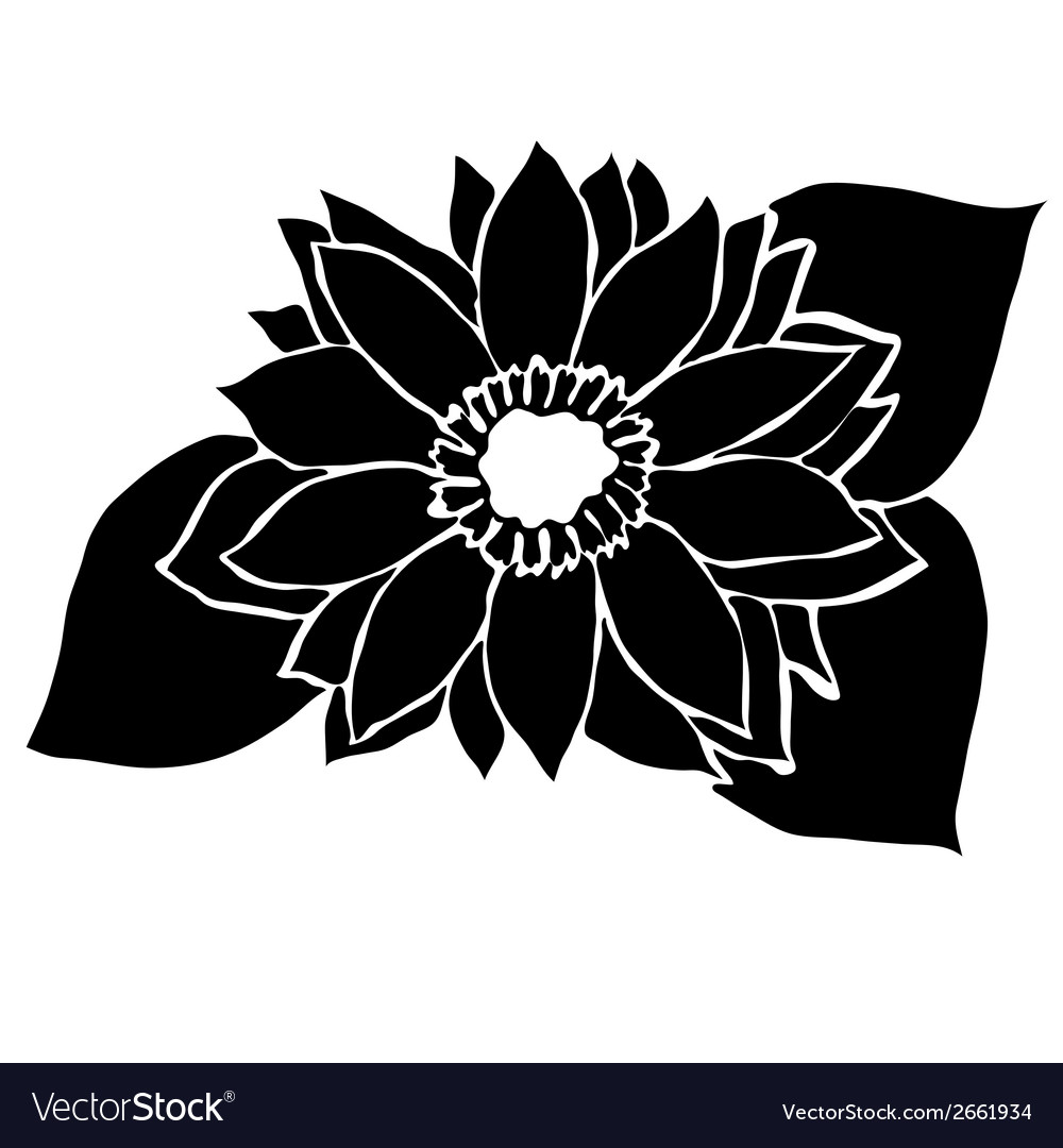 Decorative sunflower vector | Price: 1 Credit (USD $1)