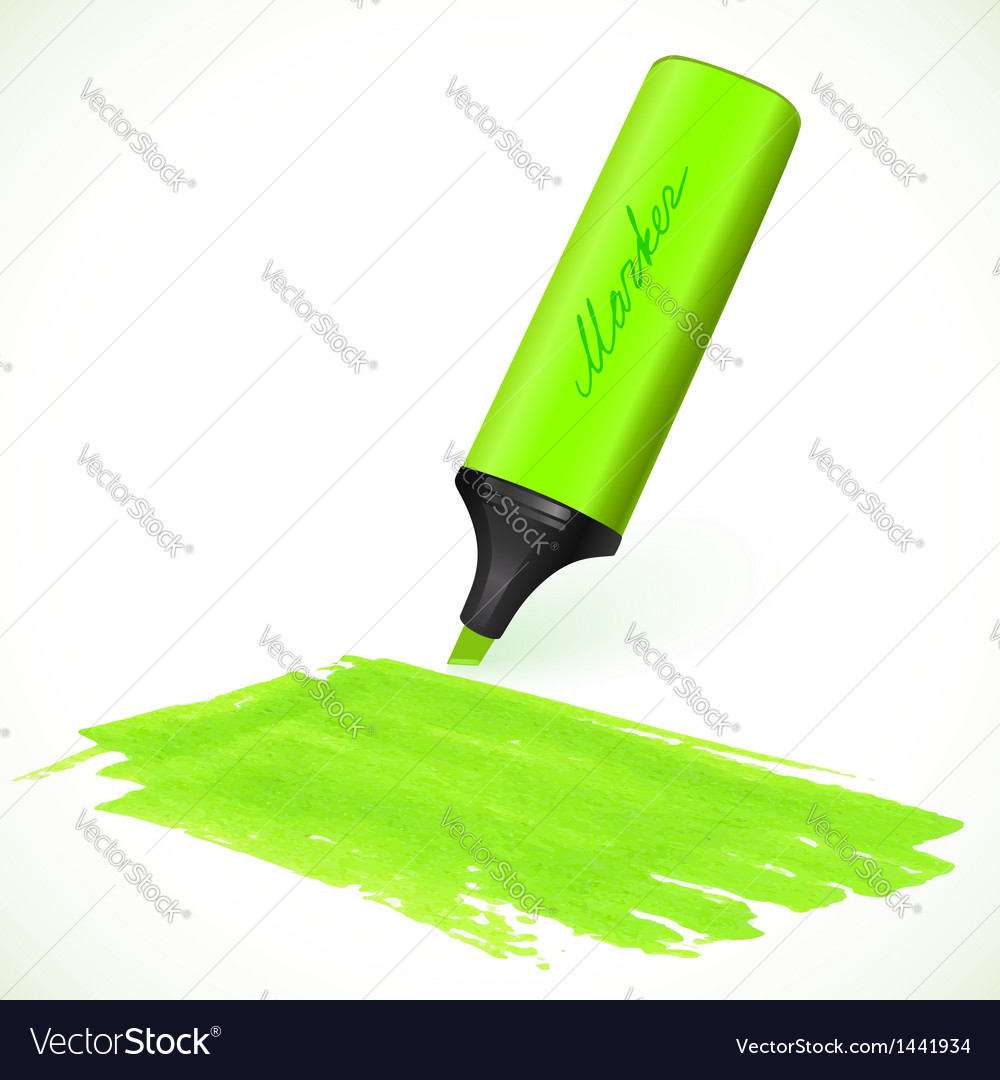 Green marker with drawn spot vector | Price: 1 Credit (USD $1)