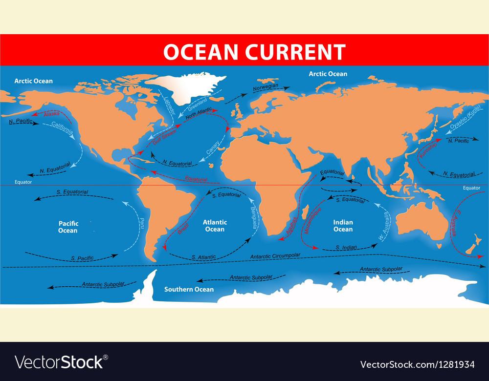 Ocean currents vector | Price: 1 Credit (USD $1)